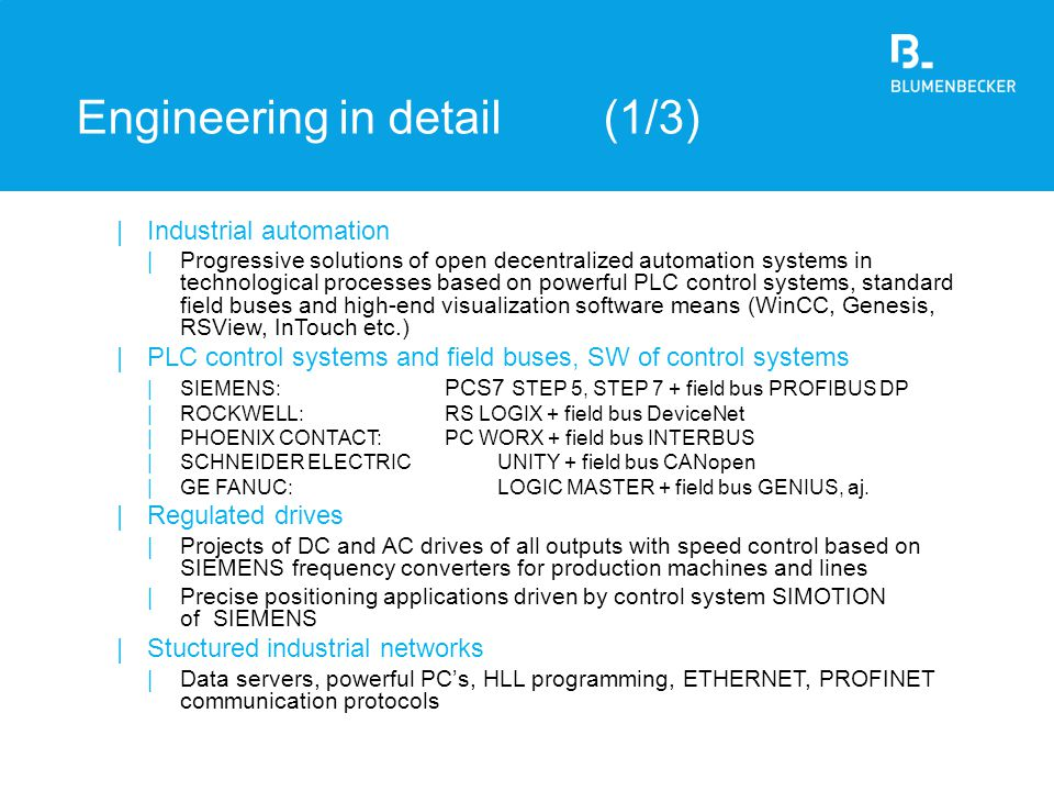 Engineering in detail (1/3)