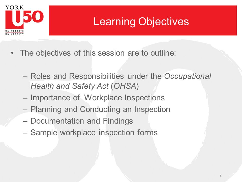 Learning Objectives The objectives of this session are to outline: