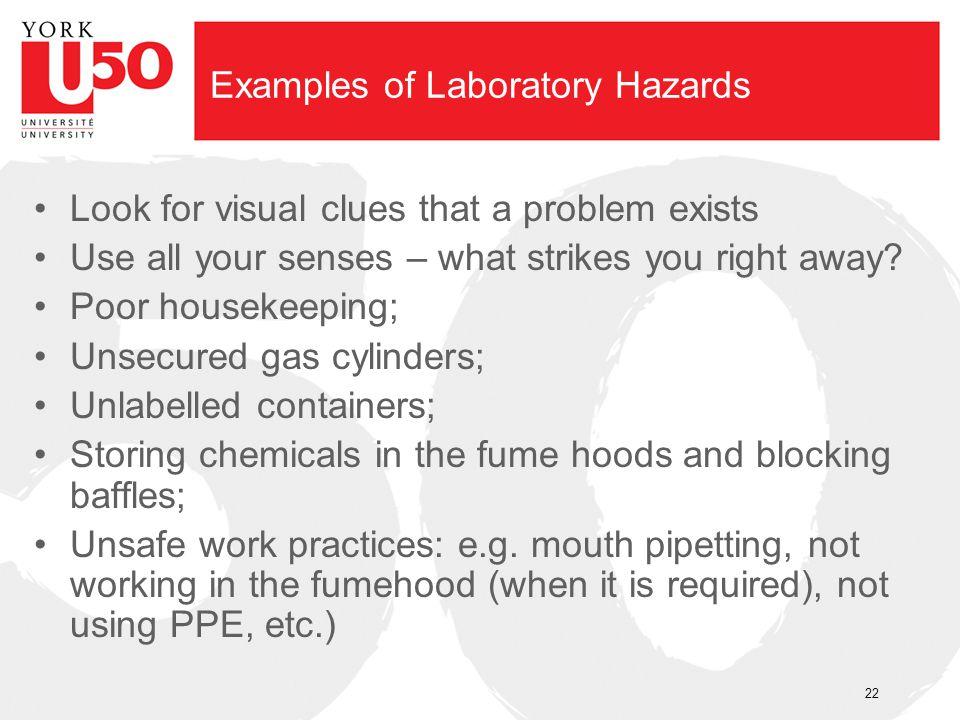 Examples of Laboratory Hazards