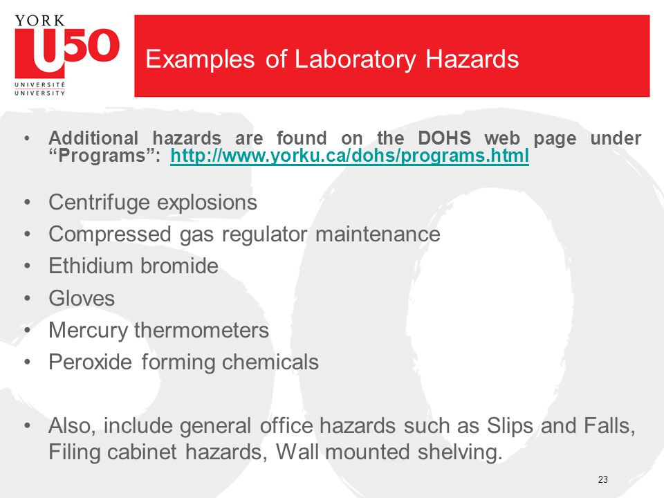 Examples of Laboratory Hazards
