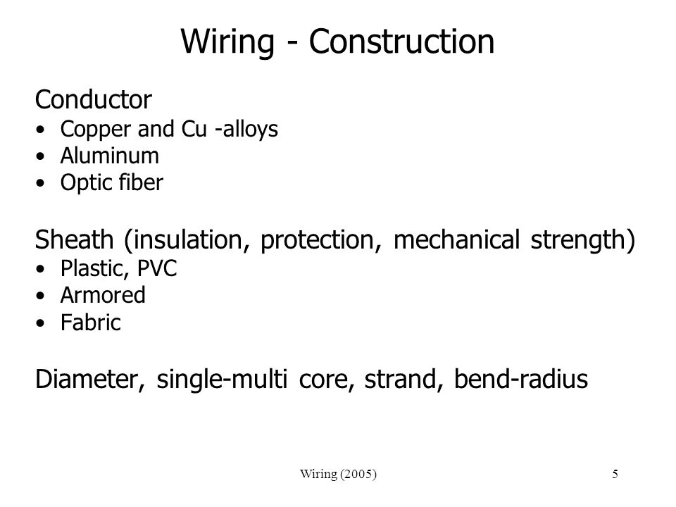 Wiring - Construction Conductor