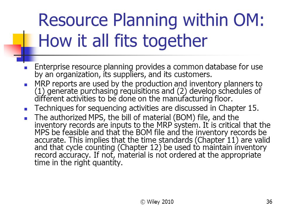 om 0011 enterprise resource planning Erp enables teams to efficiently manage and collaborate on project information  erp offers a central repository of information about services, products, vendors,.