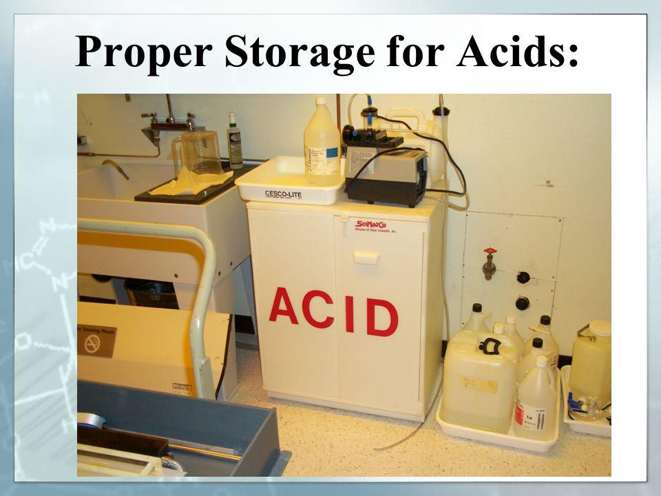 Proper Storage for Acids: