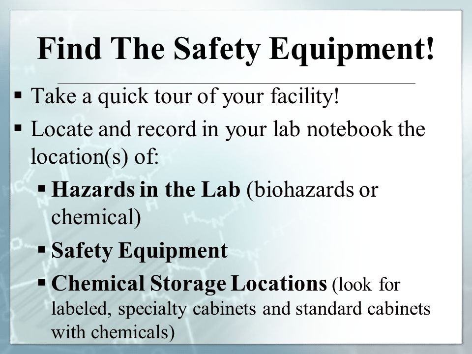 Find The Safety Equipment!