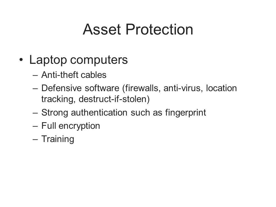 Asset Protection Laptop computers Anti-theft cables