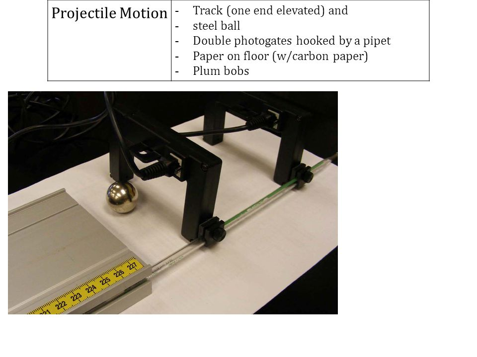 Projectile Motion Track (one end elevated) and steel ball