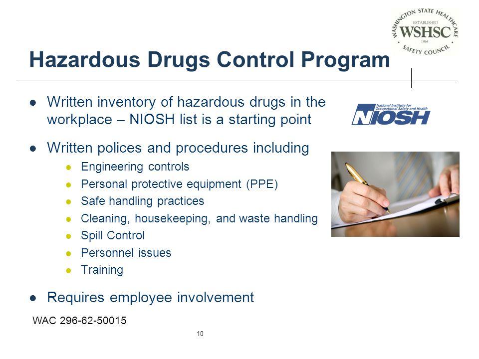 Hazardous Drugs Control Program