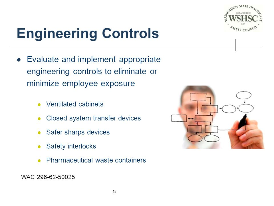Engineering Controls Evaluate and implement appropriate engineering controls to eliminate or minimize employee exposure.
