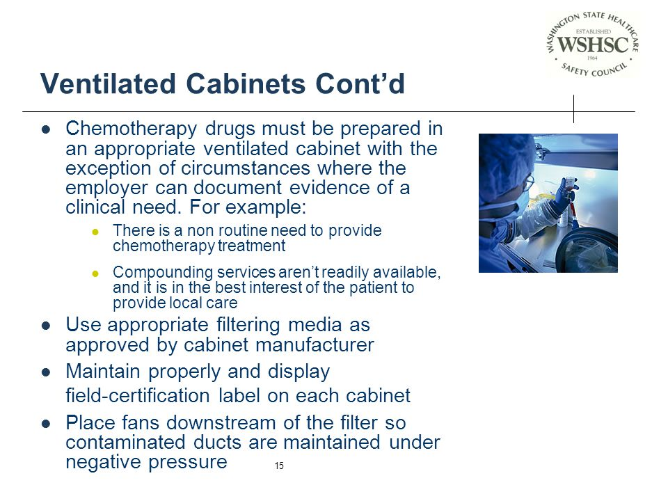 Ventilated Cabinets Cont'd