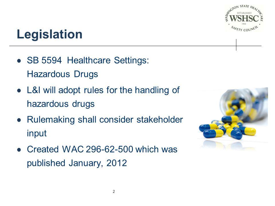 Legislation SB 5594 Healthcare Settings: Hazardous Drugs