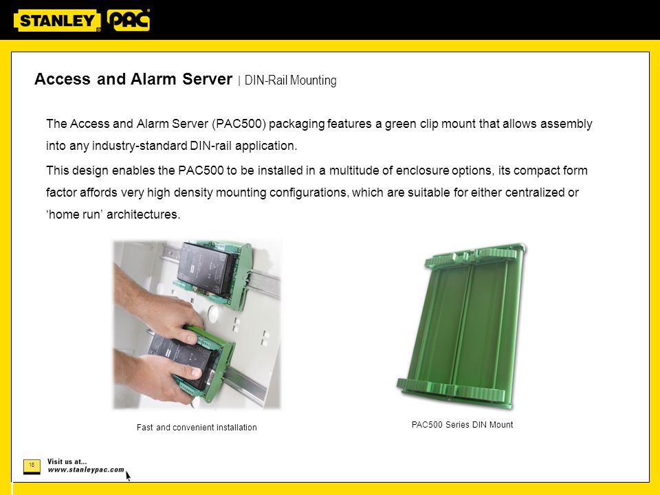 Access and Alarm Server | DIN-Rail Mounting