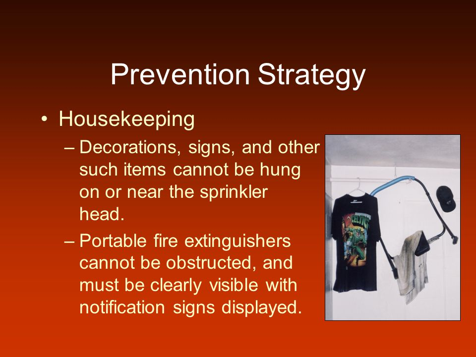 Prevention Strategy Housekeeping
