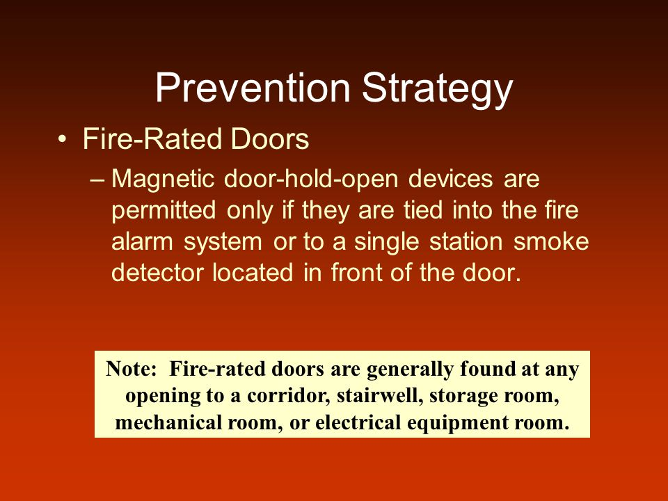 Prevention Strategy Fire-Rated Doors