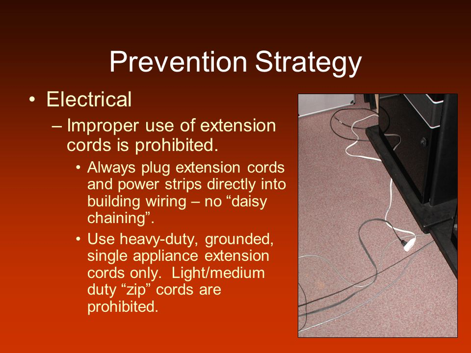 Prevention Strategy Electrical