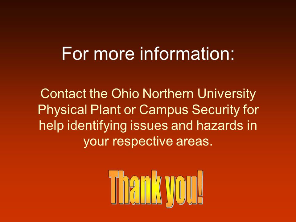 For more information: Thank you!