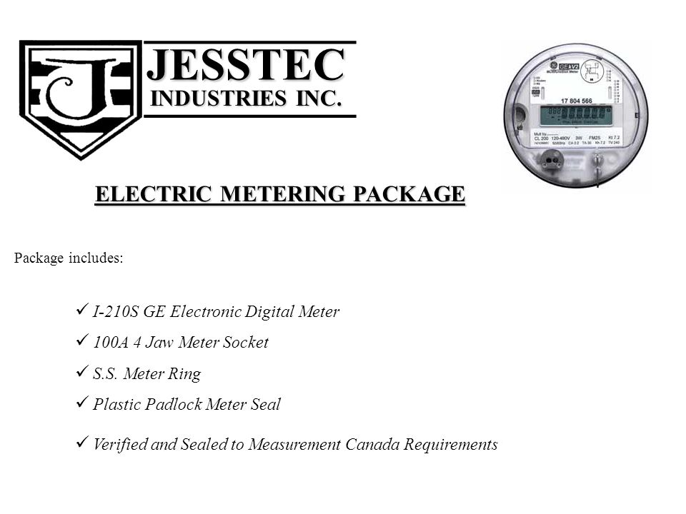 ELECTRIC METERING PACKAGE