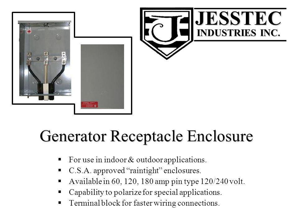 Generator Receptacle Enclosure