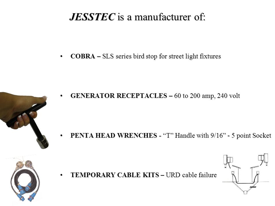 JESSTEC is a manufacturer of: