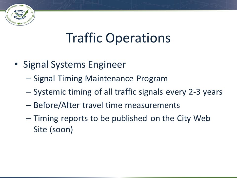 Traffic Operations Signal Systems Engineer
