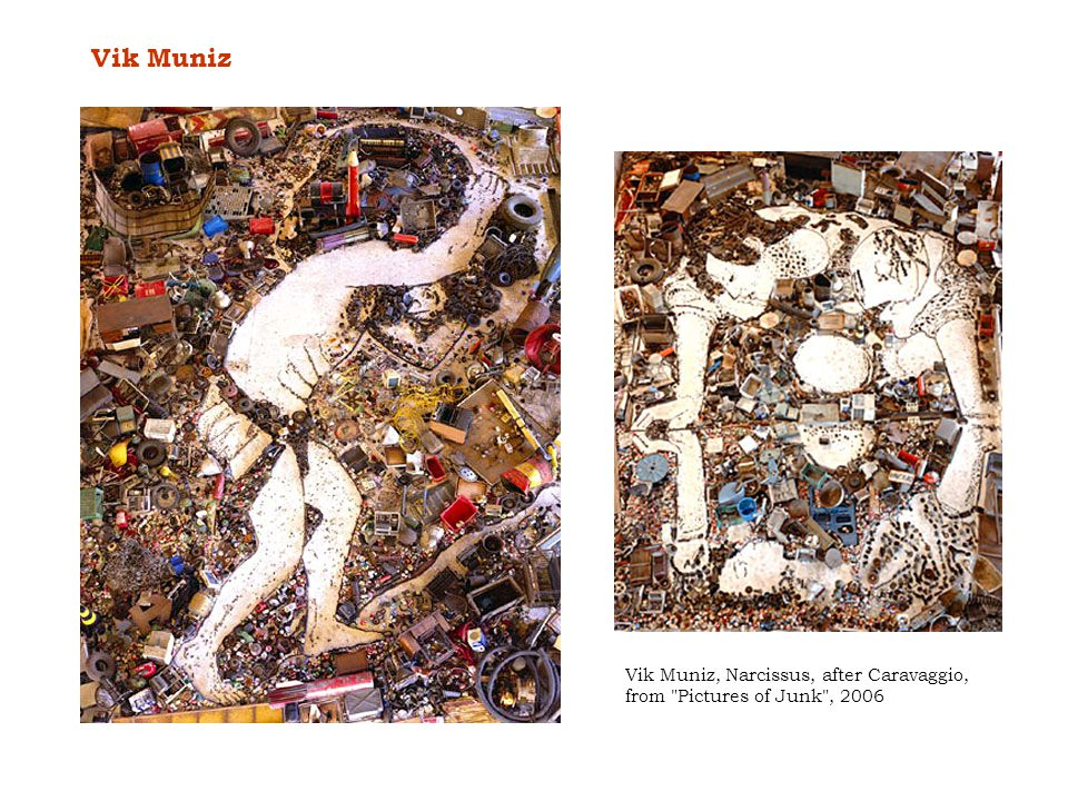 Vik Muniz Vik Muniz, Narcissus, after Caravaggio, from Pictures of Junk , 2006