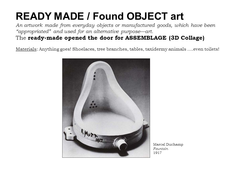 READY MADE / Found OBJECT art