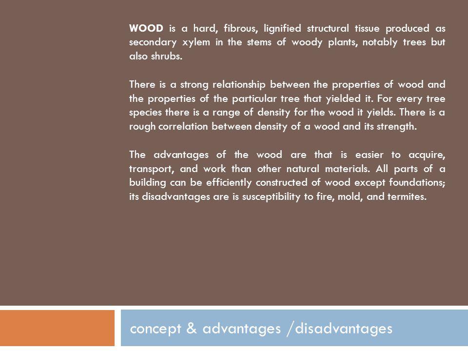 concept & advantages /disadvantages