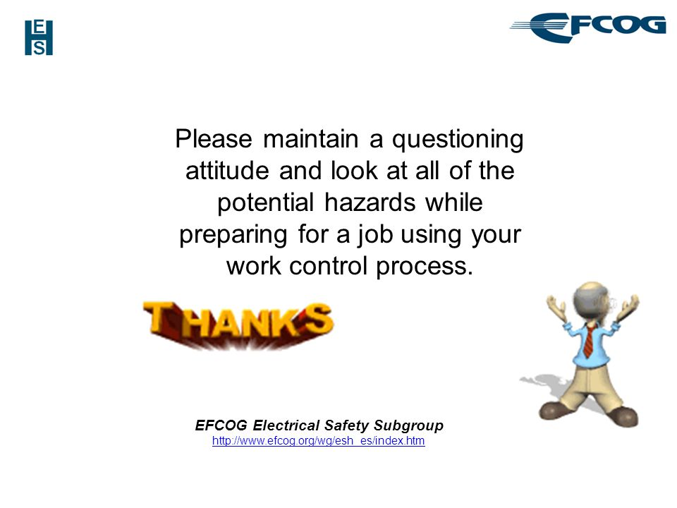 EFCOG Electrical Safety Subgroup