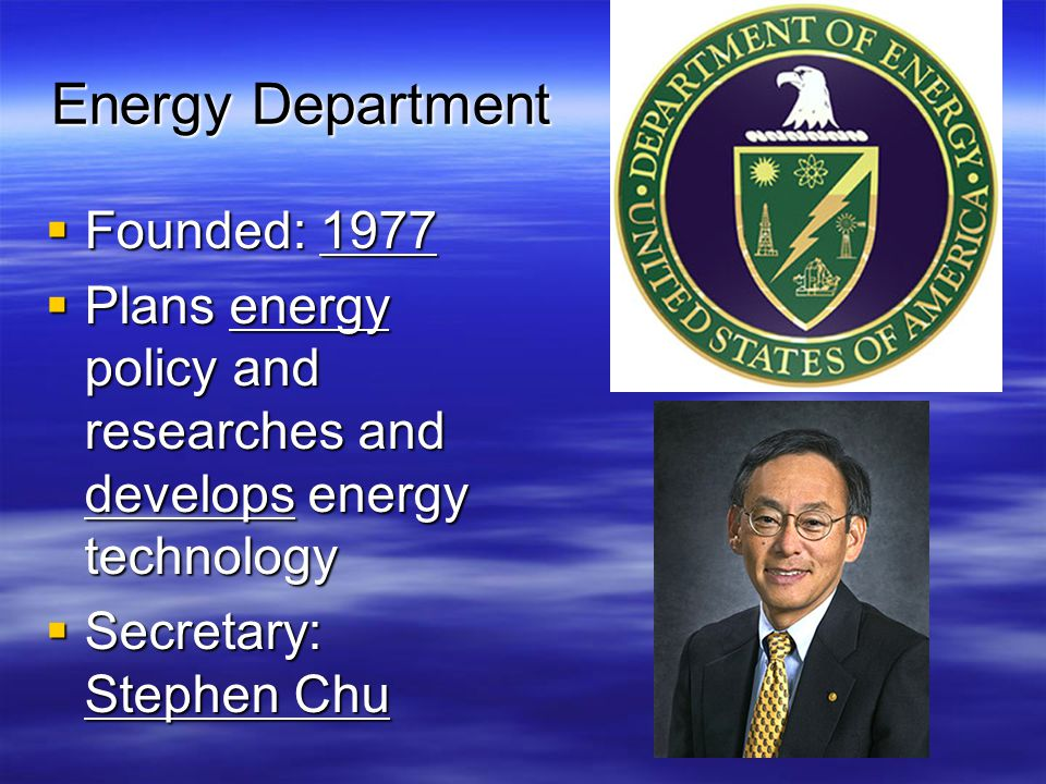 Energy Department Founded: 1977
