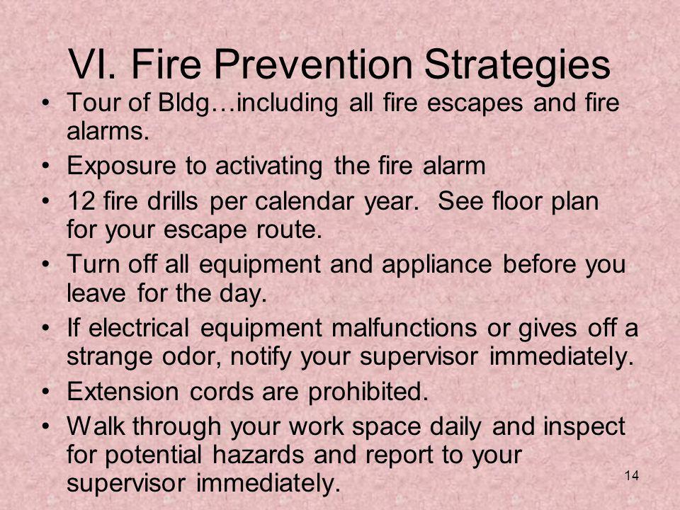 VI. Fire Prevention Strategies