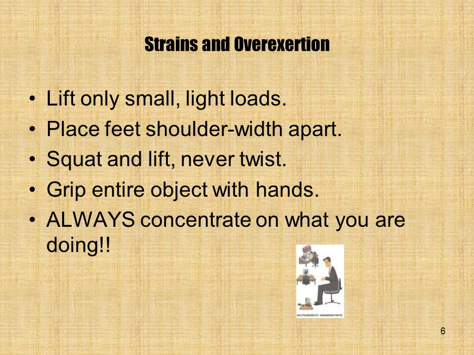 Strains and Overexertion