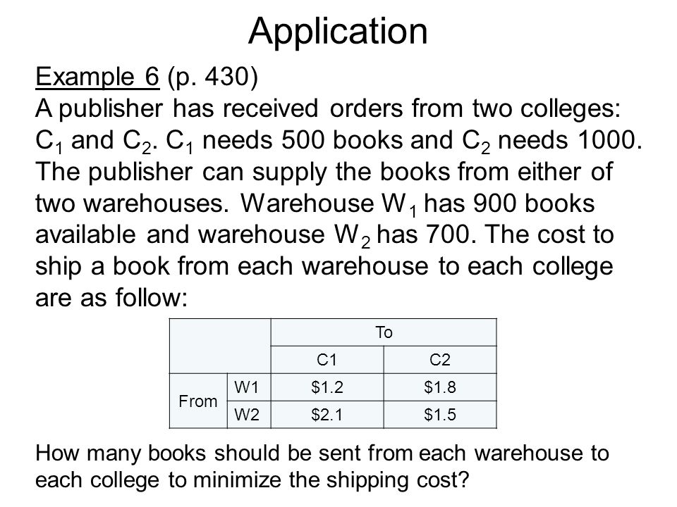 Application Example 6 (p. 430)