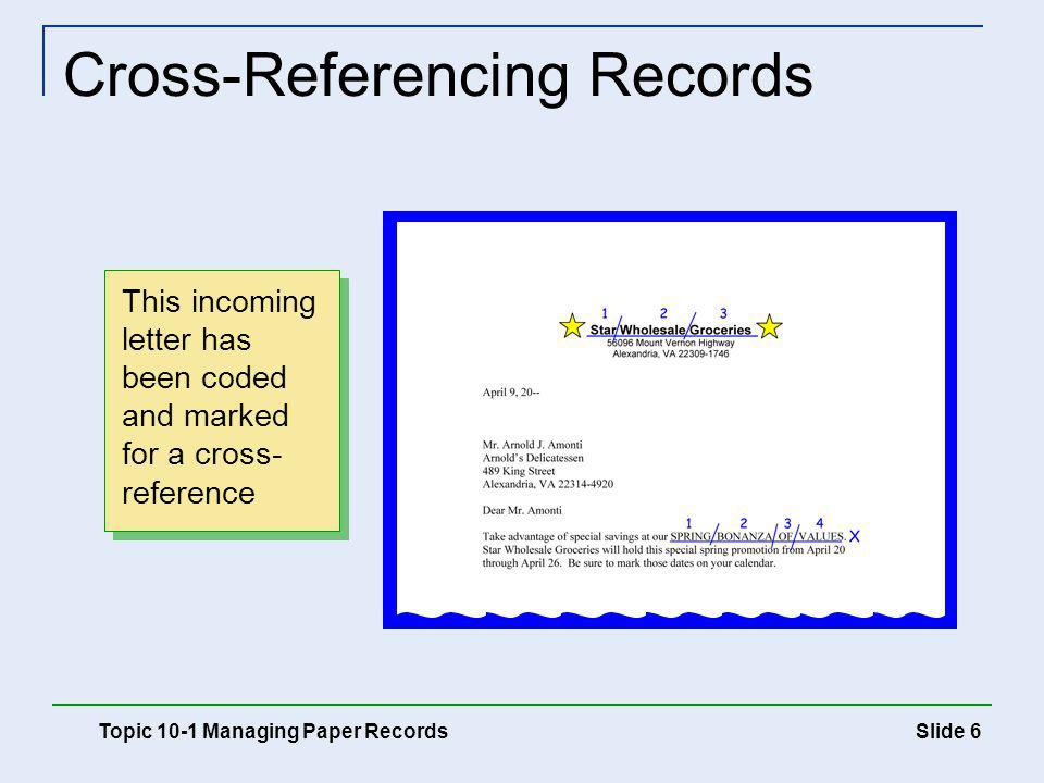 Cross-Referencing Records