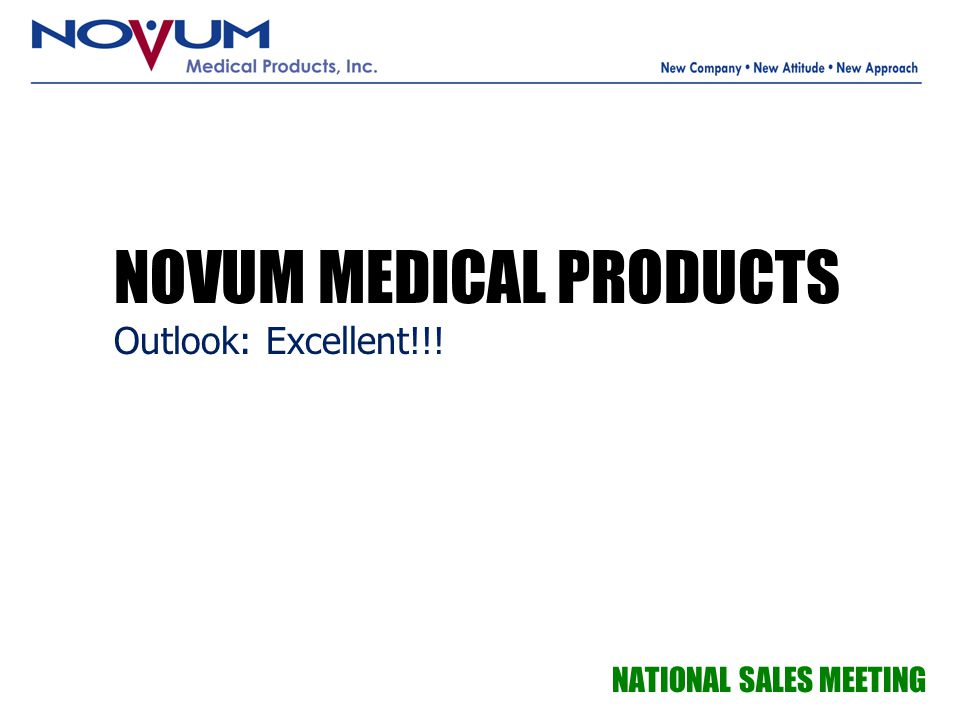 NOVUM MEDICAL PRODUCTS