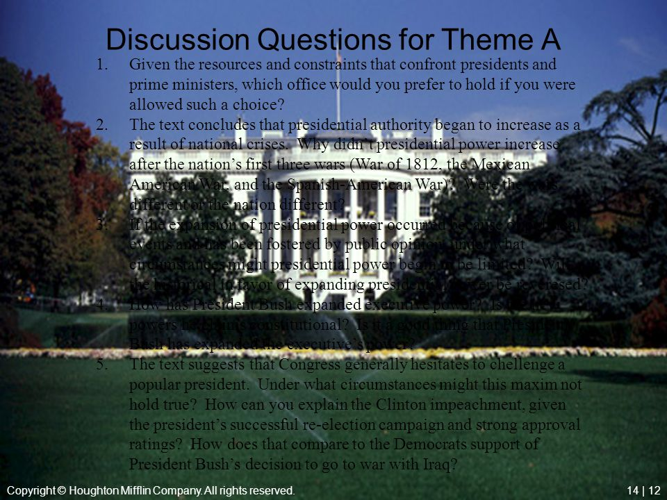 Discussion Questions for Theme A