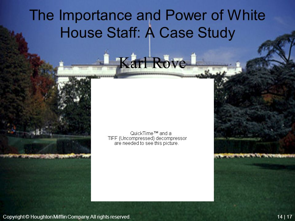 The Importance and Power of White House Staff: A Case Study