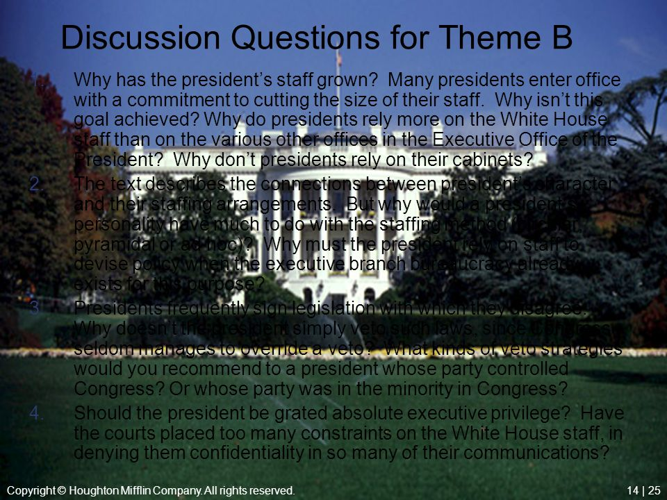 Discussion Questions for Theme B