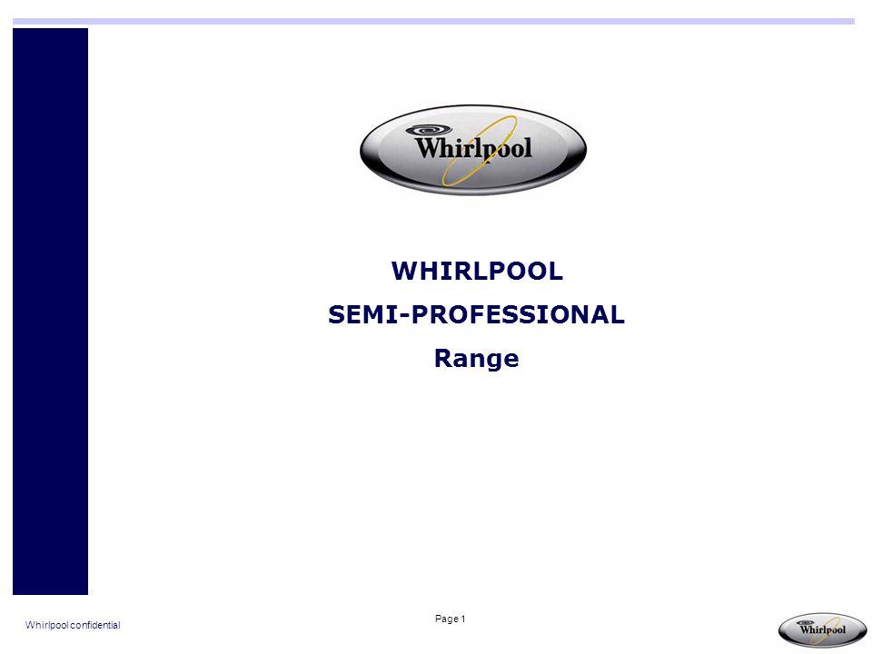 WHIRLPOOL SEMI-PROFESSIONAL Range