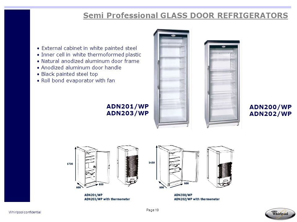 Semi Professional GLASS DOOR REFRIGERATORS