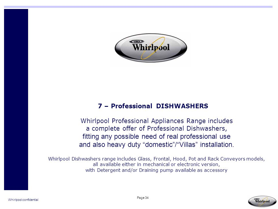 7 – Professional DISHWASHERS