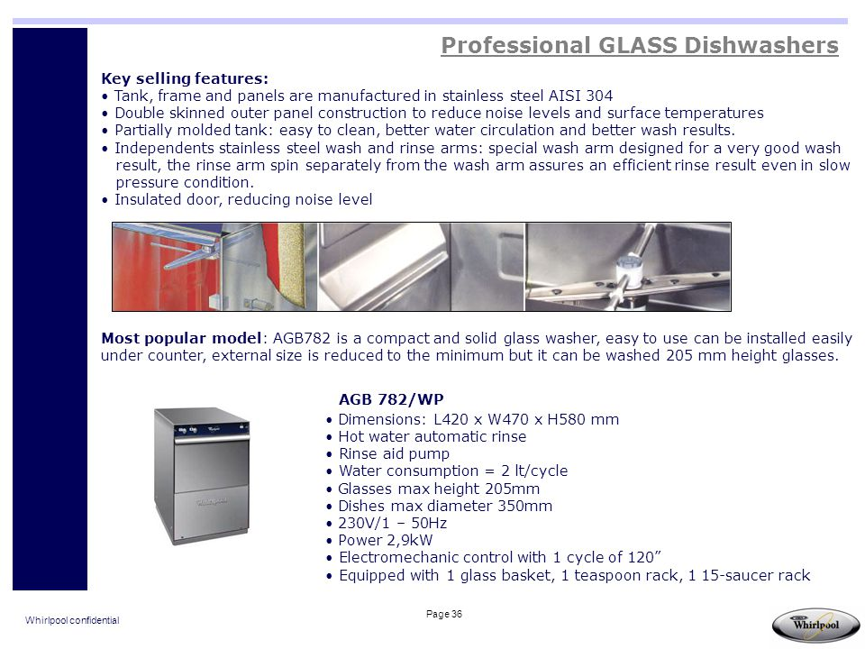 Professional GLASS Dishwashers
