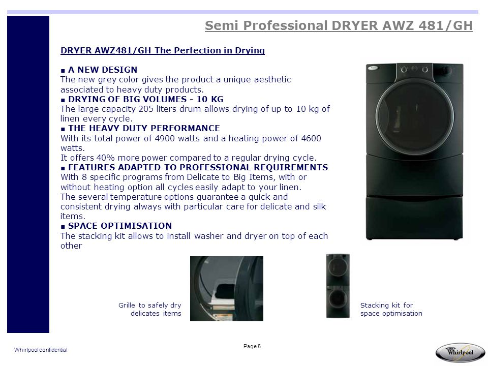 Semi Professional DRYER AWZ 481/GH