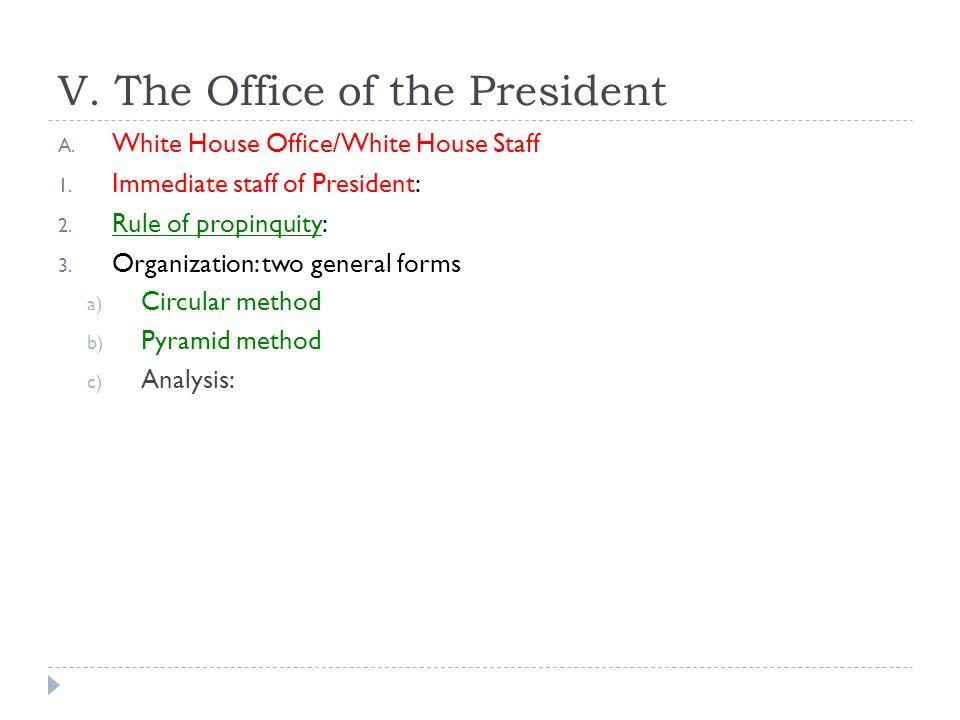 V. The Office of the President
