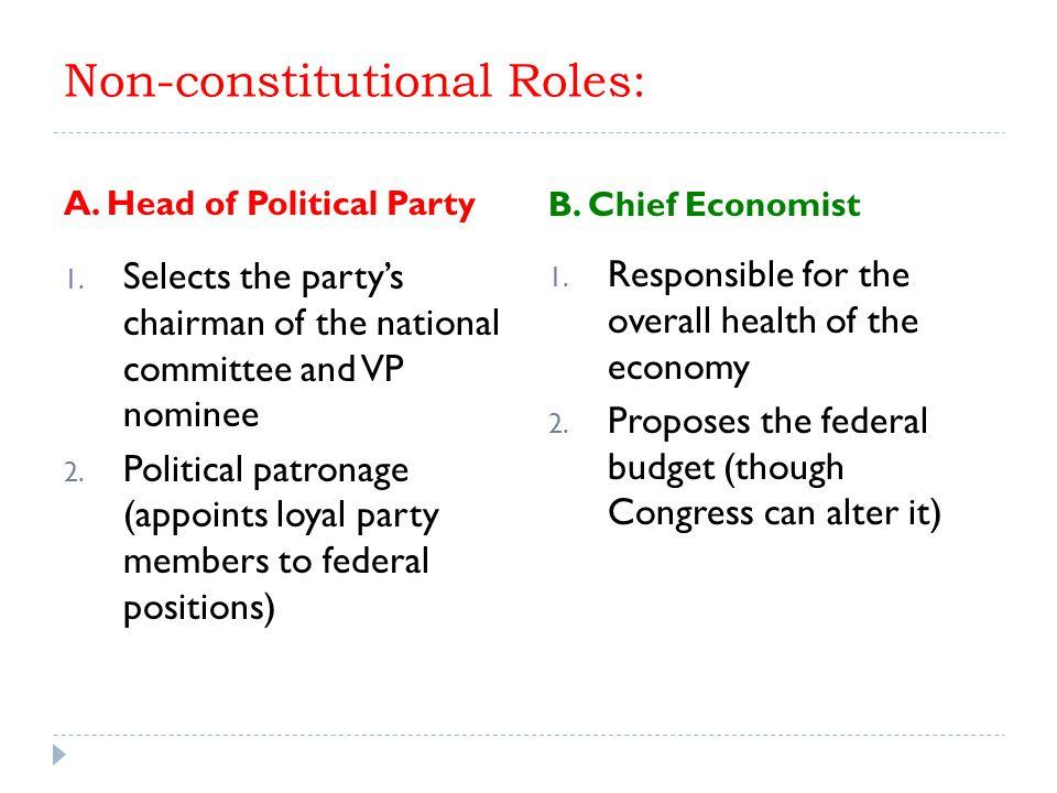 Non-constitutional Roles: