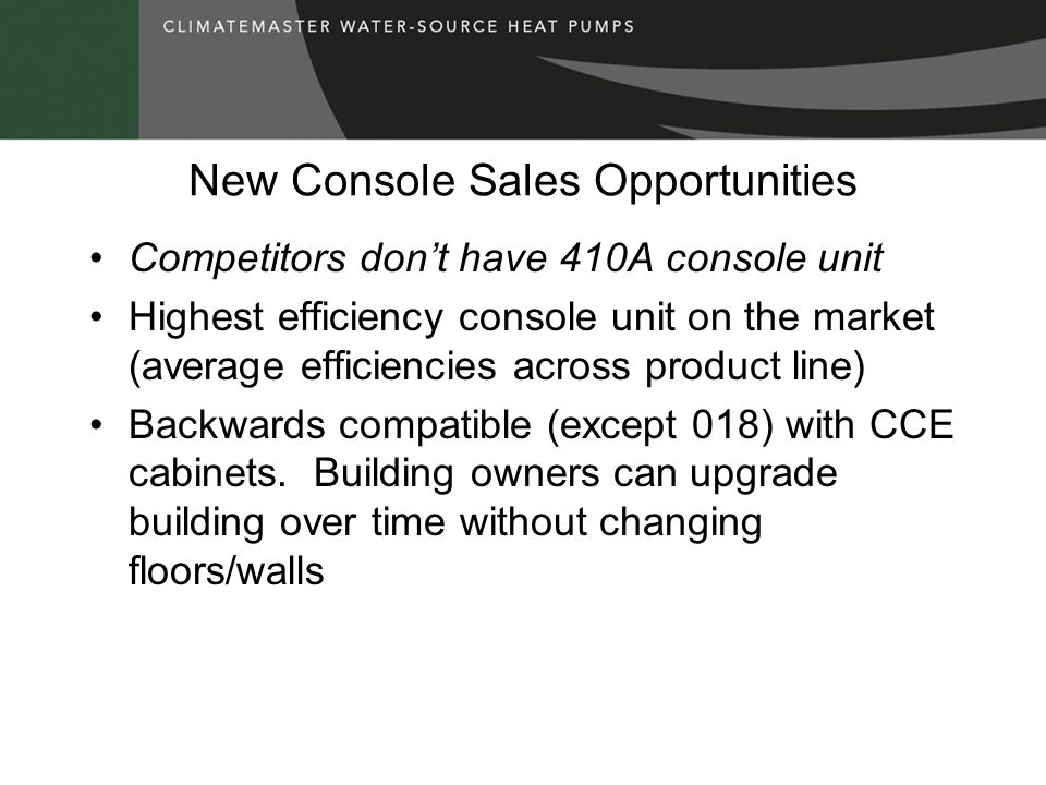New Console Sales Opportunities