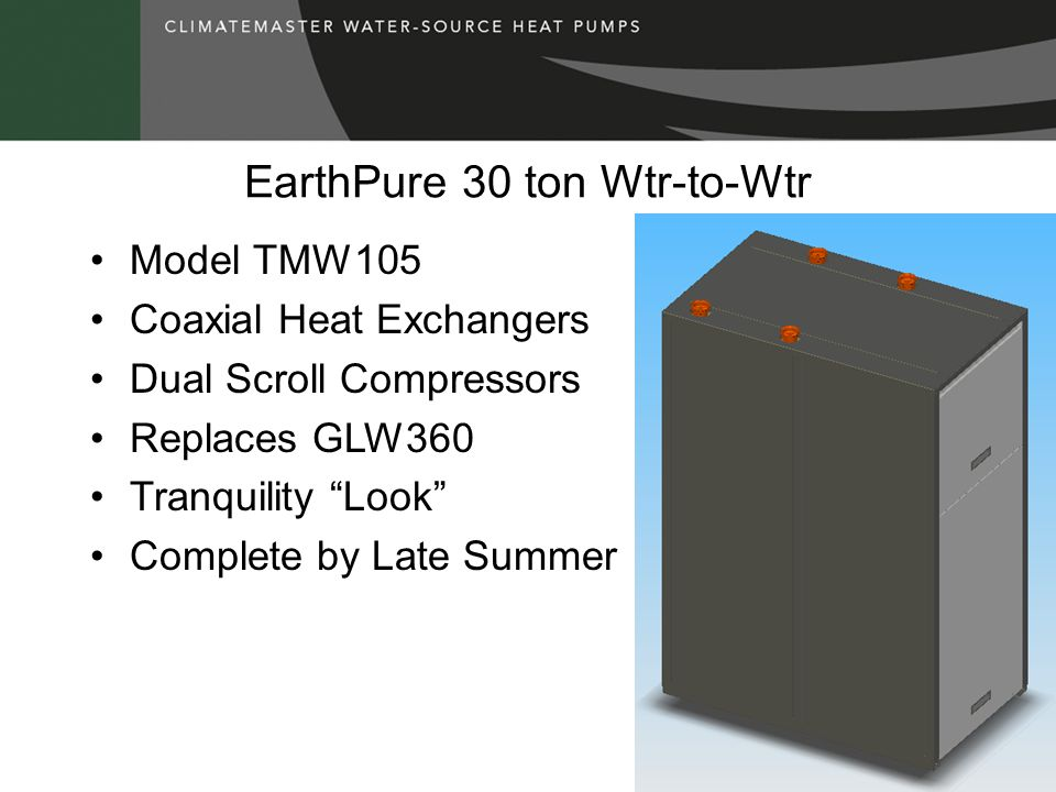 EarthPure 30 ton Wtr-to-Wtr