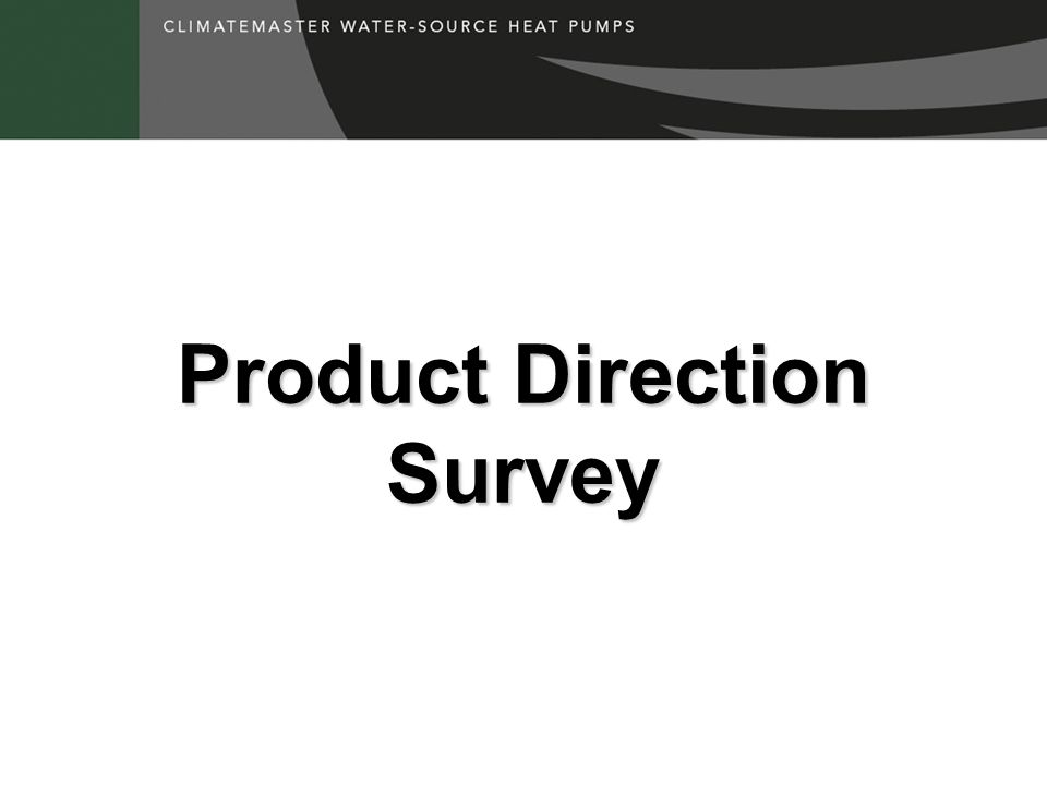 Product Direction Survey