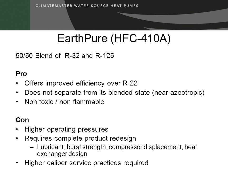 EarthPure (HFC-410A) 50/50 Blend of R-32 and R-125 Pro