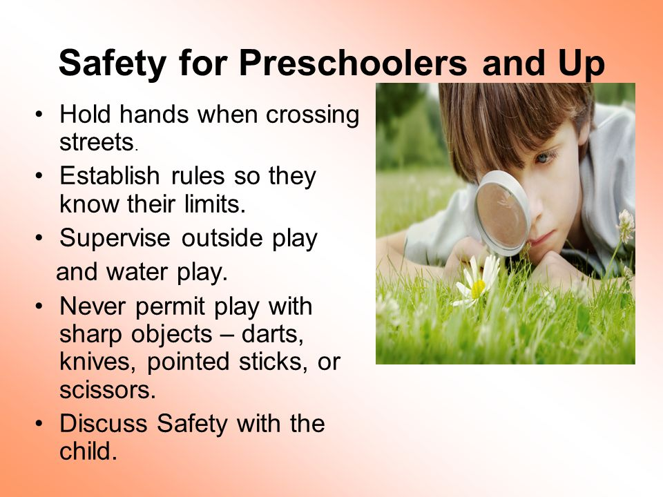 Safety for Preschoolers and Up