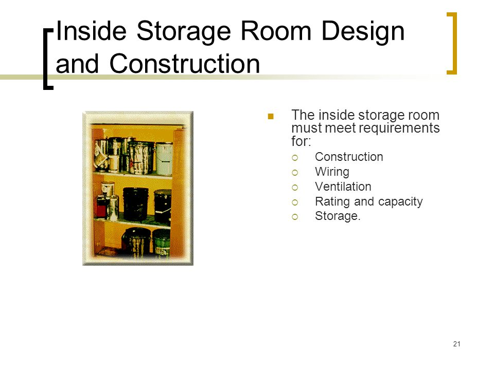 Inside Storage Room Design and Construction