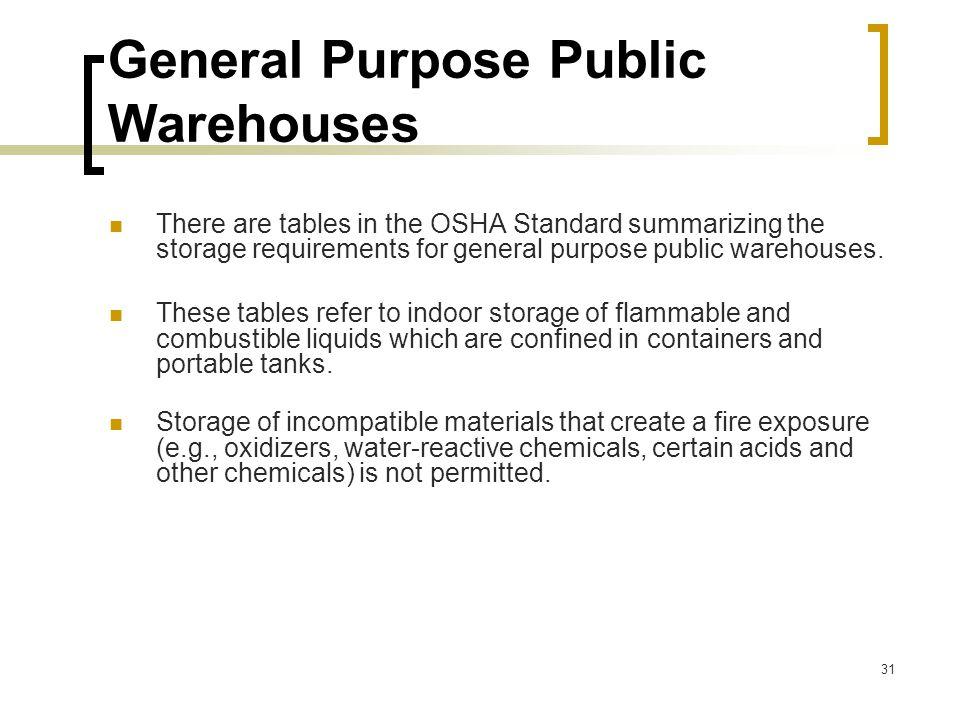 General Purpose Public Warehouses